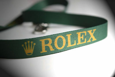 New Rolex Green And Gold Lanyard