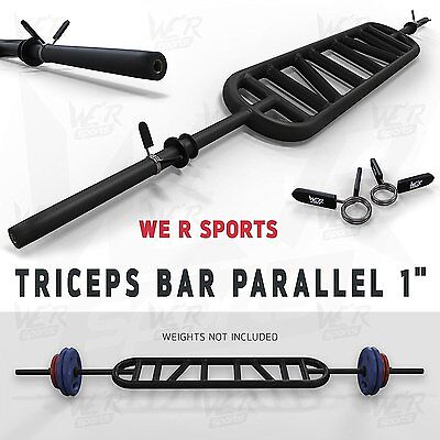 We R Sports® Triceps Bar Parallel and Angled Handle Multi Grip Standard Bar 1""
