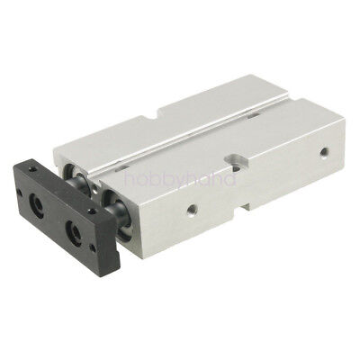 TN20X100 Dual Action 20mm Bore 100mm Stroke Double Rod Pneumatic Air Cylinder