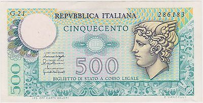 (K41-96) 1974 Italy 500 Lire bank note (A)