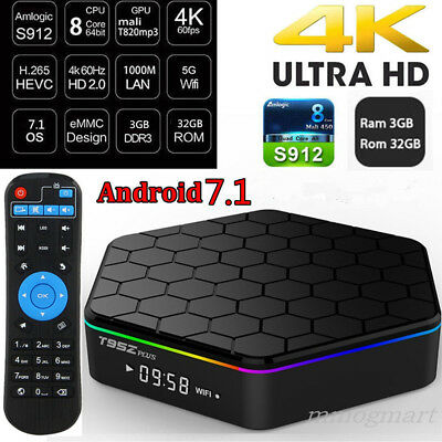 2017 Latest KDMC Set-Top Box T95Z Plus S912 3GB+32GB Smart TV Box Android 7.1