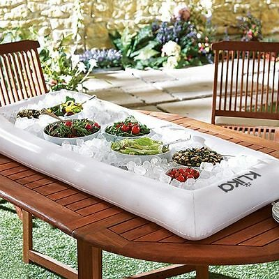 Portable Drinks Cooler Holder  Inflatable Ice Box Serving Buffet Food Salad Meat