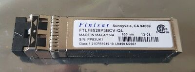 Multi Rate 8G 8GFC Fibre Channel SFP+ LC MMF SW 850nm Finisar FTLF8528P3BNV-QL