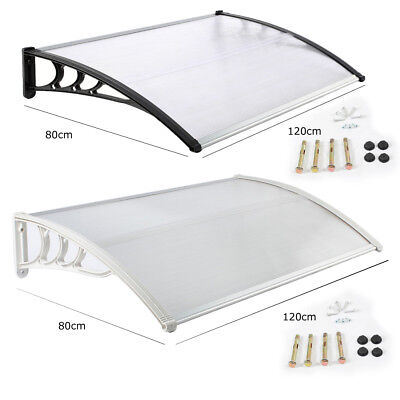 80 X 120Cm Black White Door Canopy Awning Shelter Front Back Porch Outdoor Shade