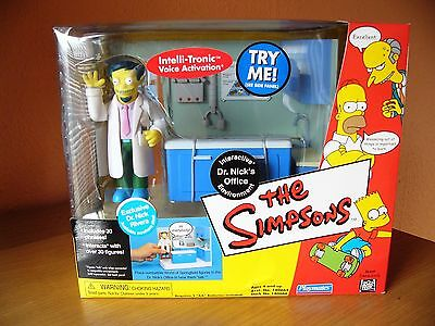 Playmates The Simpsons Rare DR NICK'S OFFICE Interactive Playset MIB