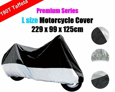 L 190T Polyester Taffeta Dust Rain UV Protection Motorbike Motorcycle Cover