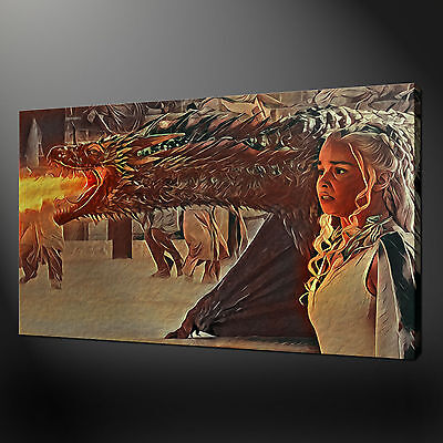 Game Of Thrones Daenerys Targaryen Mother Of Dragons Canvas Print Picture Art