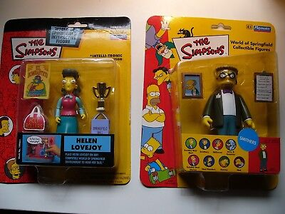 The Simpsons World Of Springfield Helen Lovejoy & Smithers Figures