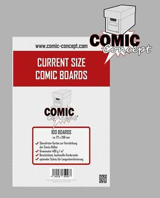 Comic Concept - 100 Current Comic Book Backing Boards NEU! OVP!