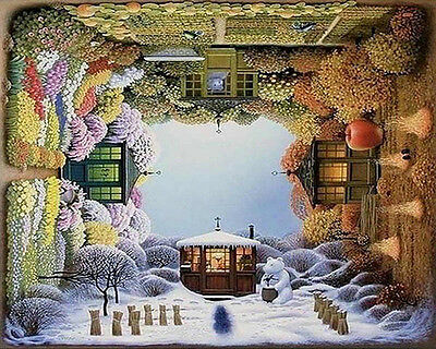 Paint By Number Kit On Canvas Four Seasons DIY Painting Wall Decor PZ7075
