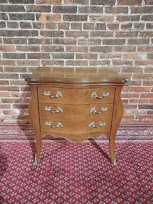 Hickory White French Louis XV Style Nightstand