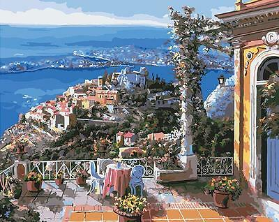 Paint By Number Kit On Canvas Mediterranean Scenery Painting Wall Decor PZ7078
