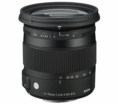 SIGMA 17-70 mm f/2.8-4 DC HSM OS Standard Zoom Lens with Macro - for Canon / NEW