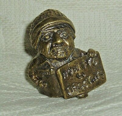 """Russian Сollectible Decorative Brass Thimble """"What do men want?"""""""