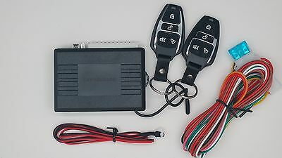 Car Van Universal Remote Central Door Locking Keyless Entry System Kit With Led