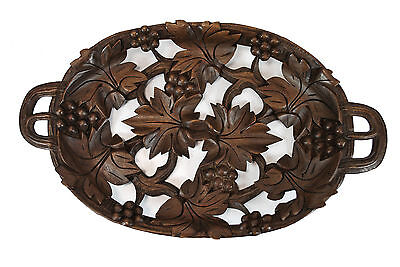 Vintage Grape Leaf / Reticulated Candy Dish or Tray  Black Forest, Switzerland.