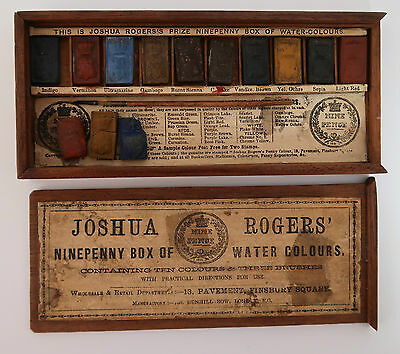 Antique Artists Watercolour Box by Joshua Rogers - Ninepenny Box of Watercolours