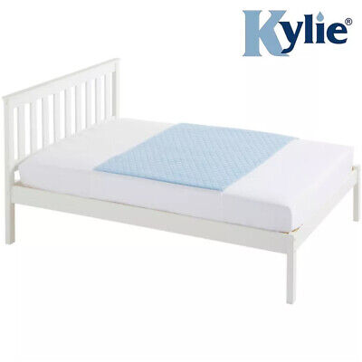 Kylie Washable Incontinence Bed Pad - Double (139 x 91cm) - Blue - 4 Litres