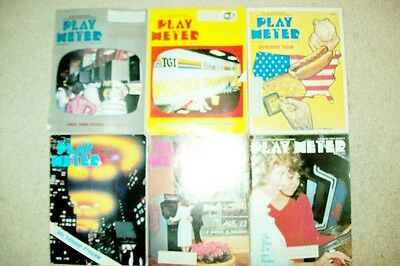 15 Issues of Play Meter Magazine from 1982 - Pinball & Video Games Trade Mags