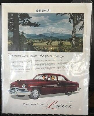 1951 Lincoln  Car Advertisement