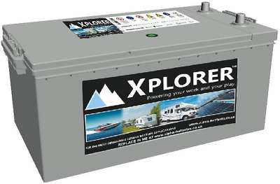Pair Of 12V Xplorer Sealed Calcium 220 Ah Leisure Batteries