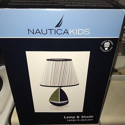 Nautica Kids® Zachary blue Table baby lamp