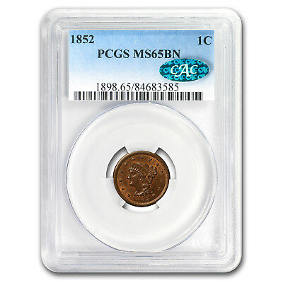 1852 Large Cent MS-65 PCGS CAC (Brown) - SKU#153330