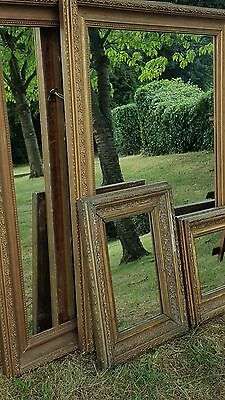Period Pair Wooden Gilt framed Large Wall mirrors