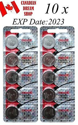 10 Pc maxell 2032 CR2032  DL2032 3v Lithium Battery coin cell button batteries