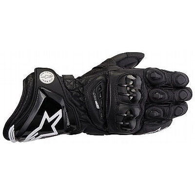 New Alpinestars Gp Pro Motorcycle Race Street Leather Gloves Black Adult Mens
