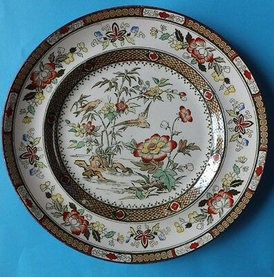 Chinese Hong Kong P B & S Antique Plate Hand Painted Marked Late 19th Century