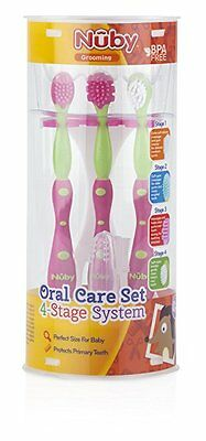 Nuby 4 Stage Oral Care Set System NEW
