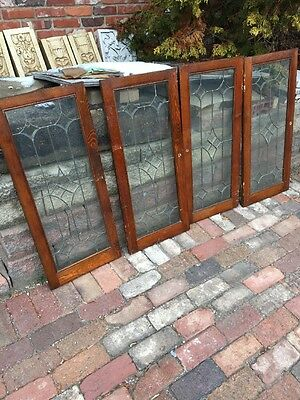 Sg 1149 Set Of 4 Matching Beveled Glass Cabinet Doors