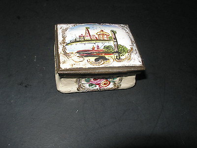 Antique Battersea Snuff Box Florence Italy