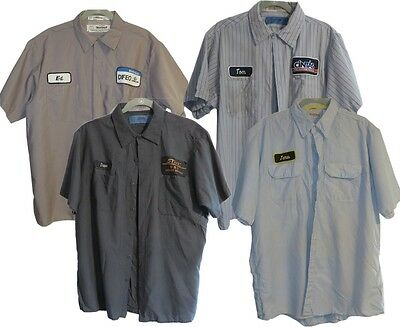 Lot of 4 Used Work Shirts XL Short Sleeve Various Colors, Brands Cintas Red Kap