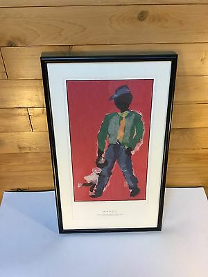 """African American Art Print Father and Daughter """"Daddy"""" Signed by Mary Bertoli"""