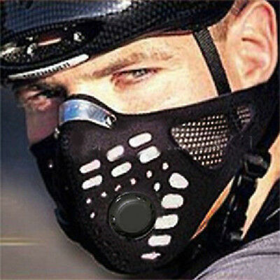 Face Mask Anti-Pollution Motorcycle Racing breathe Bike Cycling Carbon Cloth Goo