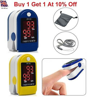 1x Finger Fingertip Blood Oxygen Meter SPO2 Pulse Heart Rate Monitor Oximeter UK