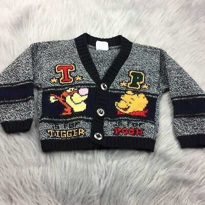 Vintage Winnie The Pooh Tigger Disney Woven Cardigan Sweater 24m