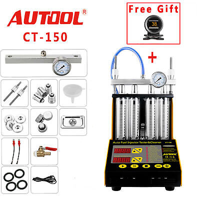 AUTOOL CT150 Ultrasonic Fuel Injector Cleaner & Tester for Car Motor 4-Cylinder
