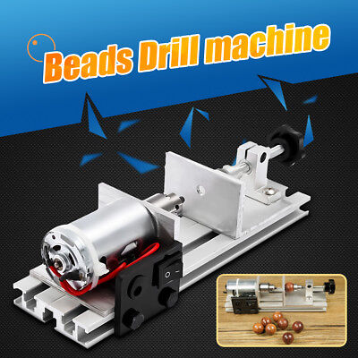 DIY Pearl Drilling Hole Machine Driller Beads Maker Jewelry Tool + Power Adapter