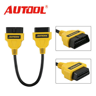 OBD2 16PIN Male To Female Extension Cable Diagnostic Connector Adapter 30cm