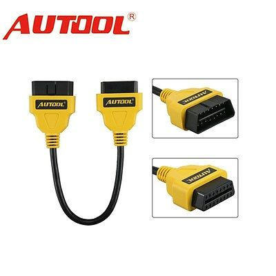 OBD-II OBD2 16Pin Male to Female Extension Cable Diagnostic Extender 30cm AUTOOL