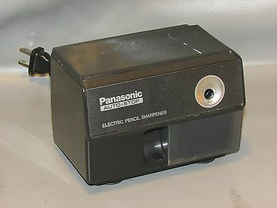 Panasonic KP-110 Black Auto Stop Electric Pencil Sharpener Japan WORKS