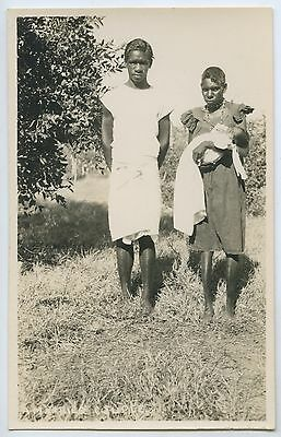 C1920's/30's Rp Scarce Postcard Aboriginal Mission Family Northern Aust L58