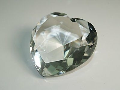 Tripact 80mm Clear Heart Shape Crystal Diamond Paperweight 3.25 Inch