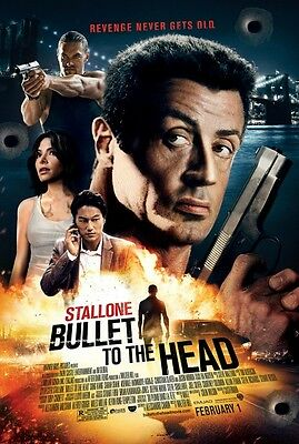 Bullet to the Head Original zweiseitig Film Film Plakat 69x102cm Stallone