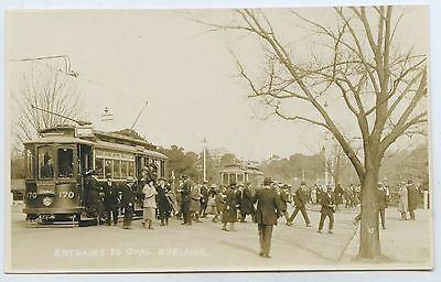 1912 Rp Npu Postcard Trams At Entrance To Adelaide Oval  King William S. A L71