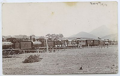 1914 Rp Pu Postcard Sar Picnic Train Wool Shed Flat Near Pt Augusta Sa L76