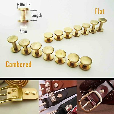 5/20pcs Solid Brass Leather Belt Wallet Chicago Screw Back Nail Stud Bind Rivet